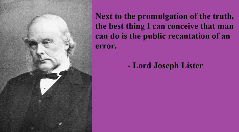 Joseph Lister Quotes